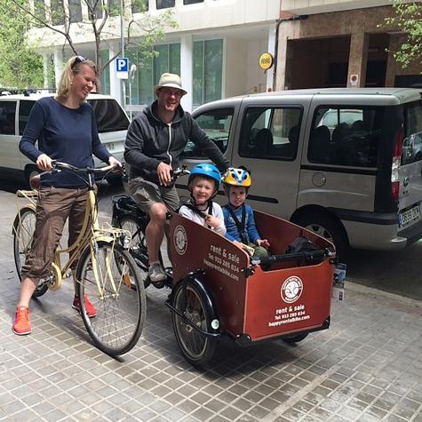 alquiler de bicicletas cargo en Barcelona