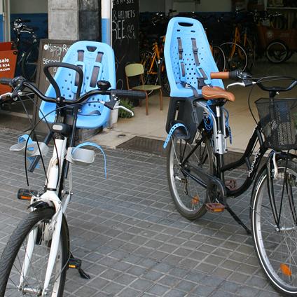 alquiler de sillas de bicicletas para bebes y niños