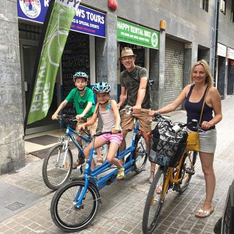 alquiler de bicicletas tándem en Barcelona